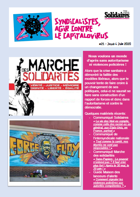 Bulletin Solidaires 21