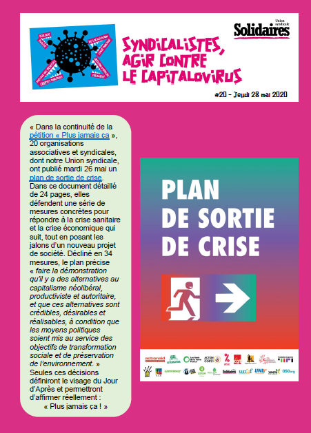 Bulletin solidaires 20