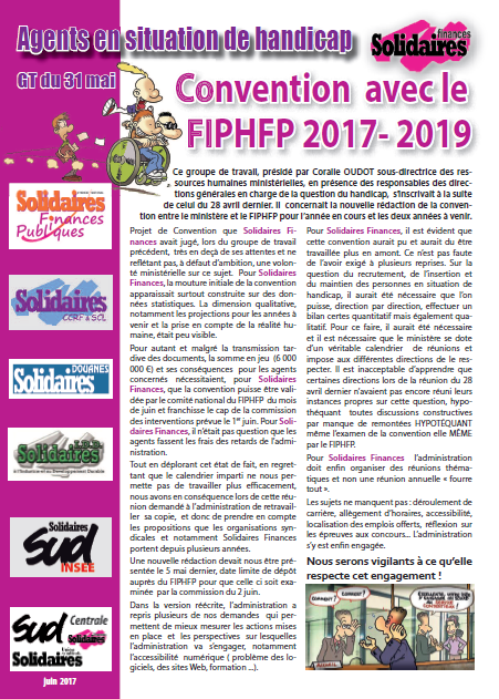 PM GT du 31 mai Convention FIPHFP 2017 2019