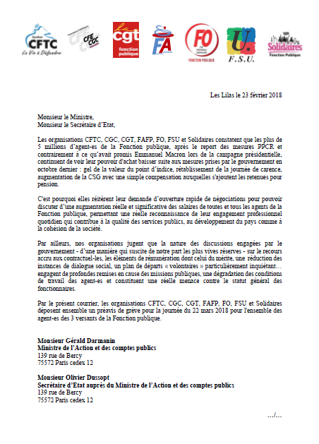 PM une appel inter FP 22mars