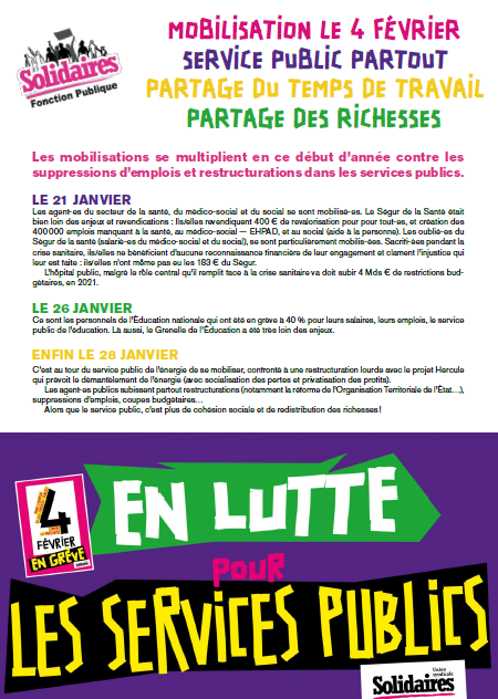 Tract Solidaires FP 4 février