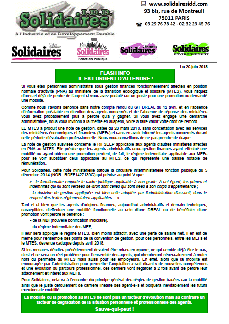 Tract agents finances au MTES juin2018