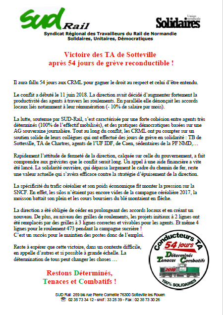 Tract local grève TA 08 08 18