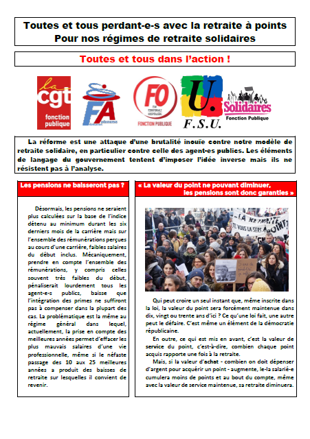 tract retraites intersyndicalFP
