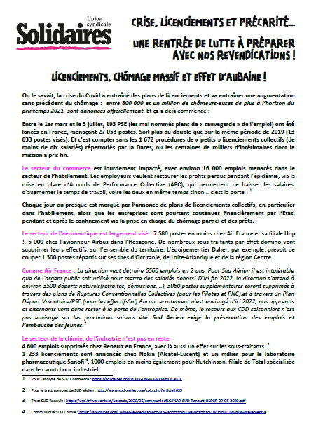 4 pages emploi chomage