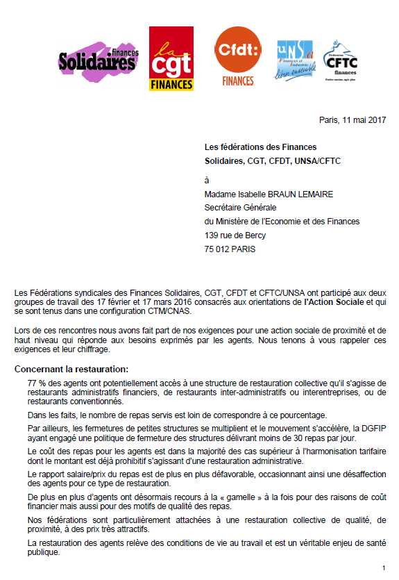 Une courrier FD Finances 11mai2017